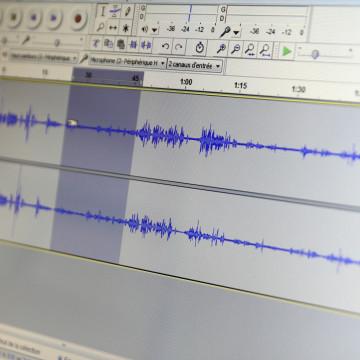 Screenshot Radiobearbeitung mit Audacity